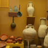 November 14th 2008, Bad Hombourg (Germany). Various amphoras and kitchen containers used by the Romans.