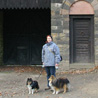 November 14th 2008, Bad Hombourg (Germany). The girls and I in front of an entry of the Roman fort.
