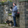 November 14th 2008, Bad Hombourg (Germany). The girls and I in front of the Roman fort's walls.